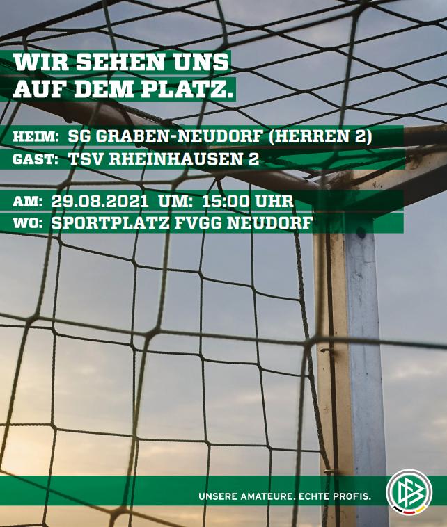 Spielankündigung SG Graben-Neudorf vs. TSV Rheinhausen 2