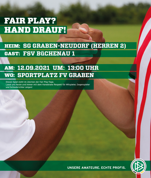Spielankündigung SG Graben-Neudorf vs. FSV Büchenau